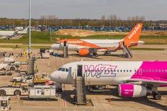 En sikt p? den Luto flygplatsen i UK arkivfoto