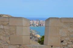 En sikt till San Juan Arkivfoto