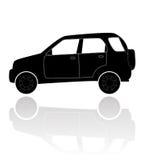 En silhouette av en bil Royaltyfri Foto
