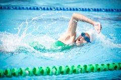 En simmare Arkivfoton