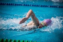 En simmare Arkivbilder