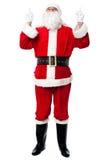 En Sinterklaas dat naar omhoog eruit ziet richt Royalty-vrije Stock Afbeeldingen