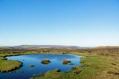 En sjö på Dartmoor, UK Royaltyfria Bilder