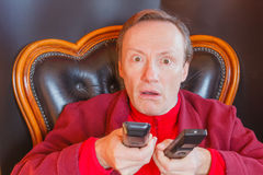 En sjuk man av TV-serie Royaltyfri Foto