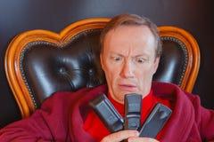 En sjuk man av TV-serie Royaltyfri Fotografi
