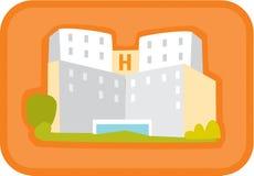En sjukhusbyggnad Royaltyfri Illustrationer