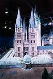 En skalamodell av Hogwarts den Warner Brothers studion Royaltyfria Foton