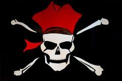 En skalle och arga ben piratkopierar Arkivfoton