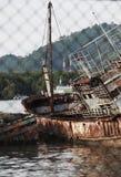 En skeppsbrott Arkivfoto