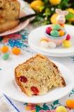 En skiva av Kulitch (Kulich), sött bröd för rysk påsk Royaltyfri Bild