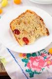 En skiva av Kulitch (Kulich), sött bröd för rysk påsk Royaltyfria Foton