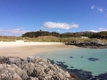 En skotsk strand Arkivbild
