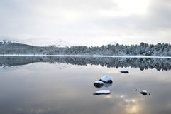 En skotsk vinterunderland Arkivbild