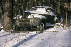 En skräpbil i Woodstock, New York Arkivbild