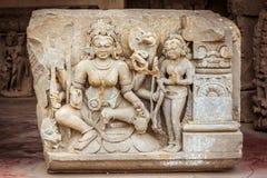 En skulptur av Durga i Abhaneri Royaltyfria Foton