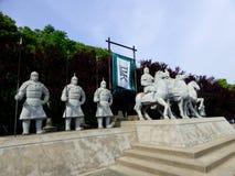 En skulptur för Wu kungariketecken Arkivfoton