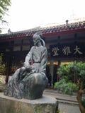 En skulptur i tr?dg?rden royaltyfri foto
