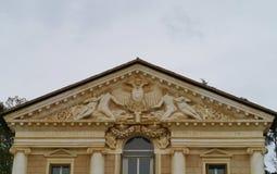 En skulptural detalj av villamaser Arkivfoton