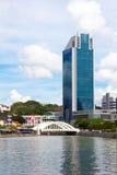 En skyskrapa i Singapore Arkivfoton
