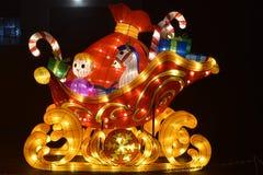 En släde för jultomten` s Fotografering för Bildbyråer