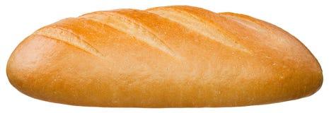 En släntra av bröd som isoleras på den vita bakgrunden arkivbild