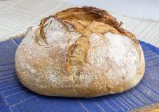 En släntra av hemlagat bröd Arkivbilder