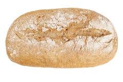 En släntra av vitt ovalt bröd royaltyfri fotografi