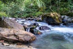 En slät flödande flod Arkivbild