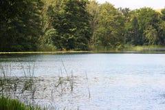 En slät sjö i Tyskland Arkivfoton