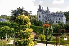 En slott i Belgien Arkivfoto