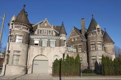 En slott i Detroit, Michigan Fotografering för Bildbyråer