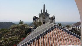 En slottplats från kupol av Phranakhornkhiri (Khao Wang) Arkivfoto