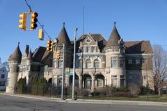 En slottpolispolisdistrikt i Detroit, Michigan Royaltyfri Bild