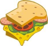 En smörgås Vektor Illustrationer