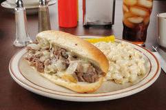 Steaksmörgås Royaltyfria Bilder