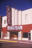 En small-town filmtheatre Arkivbild