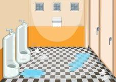 En smutsig manlig toalett vektor illustrationer