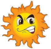 En sol med en framsida Arkivbild