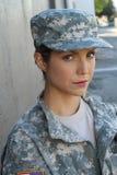 En soldat för kvinnligUSA-armé Arkivfoto