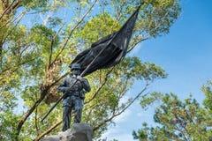 En soldat Statue i Baguio Royaltyfri Bild