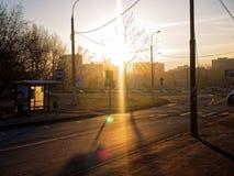 En solig morgon i Moskva Royaltyfria Foton