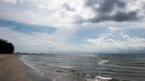 En solkatt på yttersidan av havet Fotografering för Bildbyråer