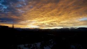 En solnedgång som är färdig för en konung Fotografering för Bildbyråer