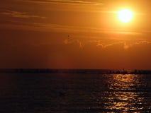 En soluppgång på Black Sea 2014 Arkivbild