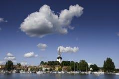 En sommardag på Mariefred, Sverige royaltyfria foton