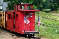 Lite röd caboose Royaltyfria Bilder