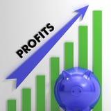En soulevant des bénéfices dressez une carte afficher le succès commercial Photo stock