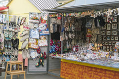 En souvenir shoppar Royaltyfria Foton