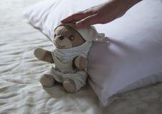 En sova nallebjörn Fotografering för Bildbyråer