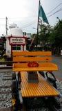 En spårvagnmonument Fotografering för Bildbyråer